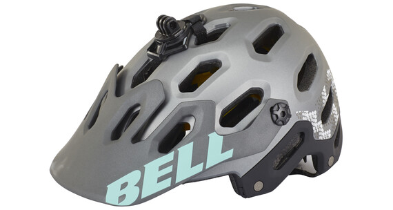 Bell Super 2 MIPS Naiset dh-/fullface-kypärä , harmaa/oliivi